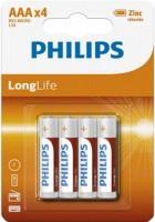 Фото - Аккумулятор / батарейка Philips Long Life 4xAAA