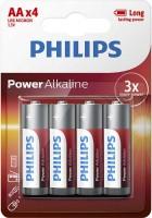 Аккумуляторная батарейка Philips Power Alkaline  4xAA