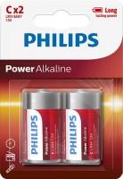 Аккумуляторная батарейка Philips Power Alkaline 2xC
