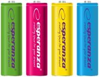 Аккумуляторная батарейка Esperanza  4xAAA 1000 mAh