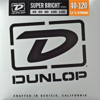 Струны Dunlop Super Bright 5-String Steel Bass 40-120
