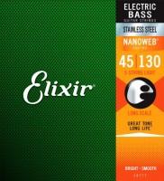 Струны Elixir Bass Stainless Steel Nanoweb 5-String 45-130