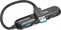 Картридер/USB-хаб Trust Aiva 4 Port USB 3.1 Hub