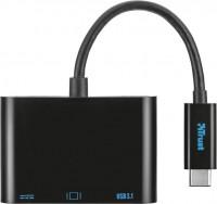 Картридер/USB-хаб Trust USB-C Multiport Adapter