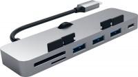 Картридер/USB-хаб Satechi Aluminum Type-C Clamp Hub Pro