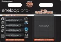 Аккумуляторная батарейка Panasonic Eneloop Pro  4xAA 2500 mAh + case