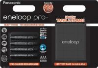 Аккумуляторная батарейка Panasonic Eneloop Pro  4xAAA 930 mAh + case