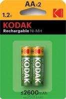 Фото - Аккумуляторная батарейка Kodak  2xAA 2600 mAh