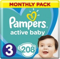 Подгузники Pampers Active Baby 3 / 208 pcs