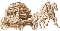 3D пазл UGears Stagecoach