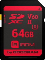 Карта памяти GOODRAM SDXC IRDM V60 UHS II U3  64ГБ