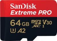 Карта памяти SanDisk Extreme Pro V30 A2 microSDXC UHS-I U3 64Gb