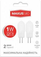 Фото - Лампочка Maxus 2-LED-205 1W 3000K G4 12V 2pcs
