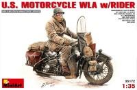 Фото - Сборная модель MiniArt U.S. Motorcycle WLA w/Rider (1:35)
