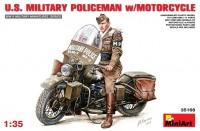 Сборная модель MiniArt U.S. Military Policeman w/Motorcycle (1:35)