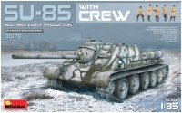 Сборная модель MiniArt SU-85 Mod. 1943 Early Production w/Crew (1:35)