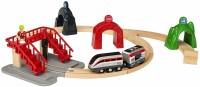 Фото - Автотрек / железная дорога BRIO Smart Engine Set with Action Tunnels 33873