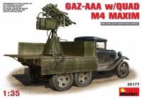 Сборная модель MiniArt GAZ-AAA w/Quad M4 Maxim (1:35)