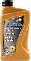 Моторное масло Alpine Longlife 12 FE 0W-30 1л