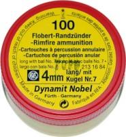 Кулі й патрони Dynamit Nobel Flobert 4 mm 0.50 g 100 pcs