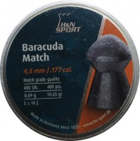 Пули и патроны Haendler & Natermann Baracuda 4.5 mm 0.69 g 400 pcs