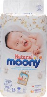 Подгузники Moony Natural Diapers NB / 66 pcs