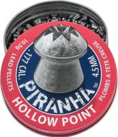 Пули и патроны Crosman Piranha Hollow Point 4.5 mm 0.68 g 400 pcs