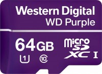 Карта памяти WD Purple MicroSDXC 64Gb