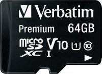 Фото - Карта памяти Verbatim Premium microSDXC UHS-I Class 10  64ГБ