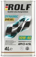 Моторное масло Rolf Dynamic Diesel 10W-40 4л