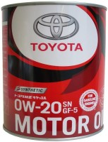 Моторное масло Toyota Motor Oil 0W-20 SN/GF-5 Synthetic 1л
