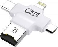 Картридер / USB-хаб Coteetci 4 in 1 Card Reader