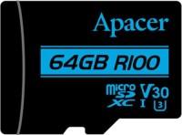 Карта памяти Apacer microSDXC R100 UHS-I U3 Class 10  64ГБ
