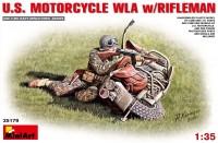 Сборная модель MiniArt U.S. Motorcycle WLA w/Rifleman (1:35)