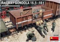 Фото - Сборная модель MiniArt Railway Gondola 16.5-18T (1:35)