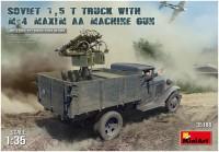Фото - Сборная модель MiniArt Soviet 1.5T Truck with M-4 Maxim AA Machine Gun (1:35)