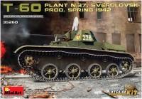 Сборная модель MiniArt T-60 Plant N.37 Sverdlovsk Prod. Spring 1942 (1:35)