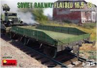 Фото - Сборная модель MiniArt Soviet Railway Flatbed 16.5-18T (1:35)