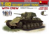 Сборная модель MiniArt T-80 Soviet Light Tank with Crew (1:35)