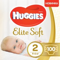 Подгузники Huggies Elite Soft 2 / 100 pcs