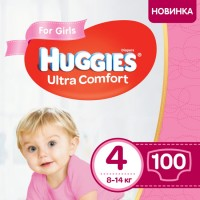 Подгузники Huggies Ultra Comfort Girl 4 / 100 pcs