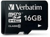 Фото - Карта памяти Verbatim microSDHC Class 10  16ГБ