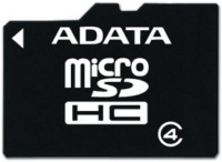 Карта памяти A-Data microSDHC Class 4  8ГБ
