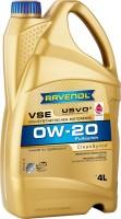 Моторное масло Ravenol VSE 0W-20 4л