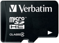 Карта памяти Verbatim microSDHC Class 4 4Gb