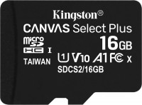 Карта памяти Kingston microSDHC Canvas Select Plus  16 ГБ