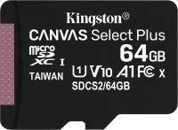 Карта памяти Kingston microSDXC Canvas Select Plus  64 ГБ