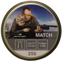 Фото - Пули и патроны BORNER Match 4.5 mm 0.58 g 250 pcs
