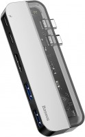 Картридер / USB-хаб BASEUS Transparent Dual Type-C Multifunctional HUB