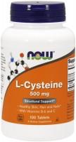 Фото - Аминокислоты Now L-Cysteine 500 mg 100 tab